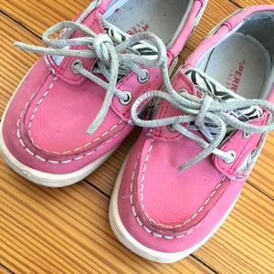Sperry Bluefish Boat Shoes Pink & Zebra